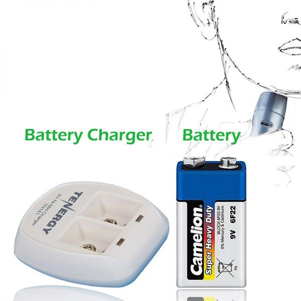 باطری 9 ولتی قابل شارژ و شارژر